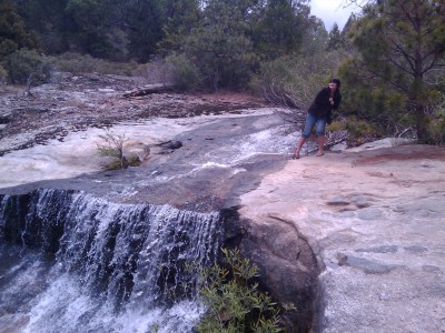 morgan_climbs_waterfall