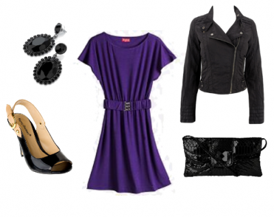 Claire_Danes_purple dress_leather jacket