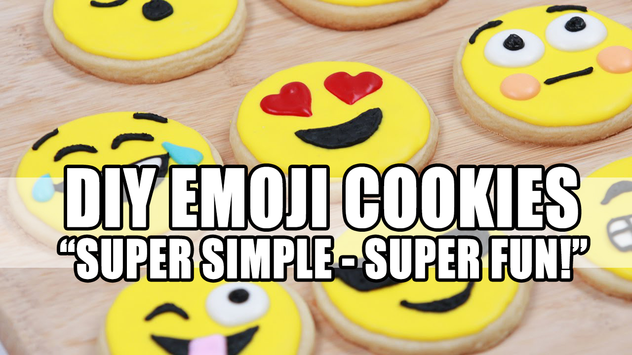 DIY emoji cookies header
