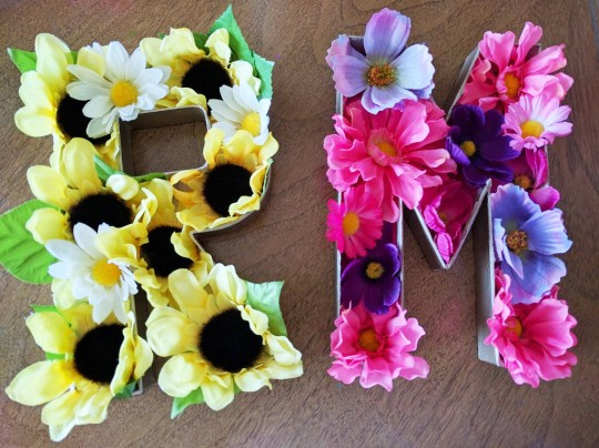 Floral Letter DIY by Mrs Priss
