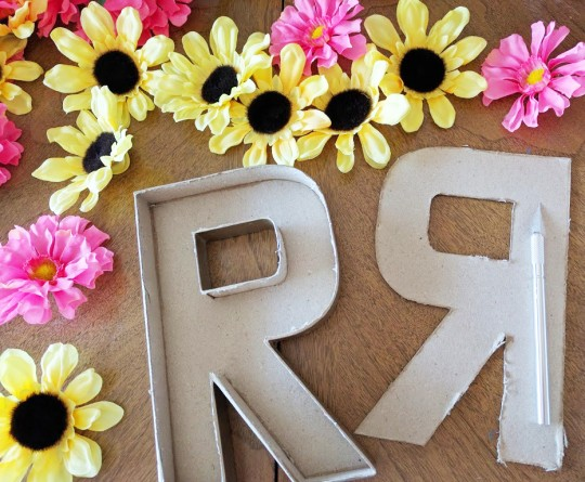 Floral Letter DIY by Mrs Priss Flower Cut Letter