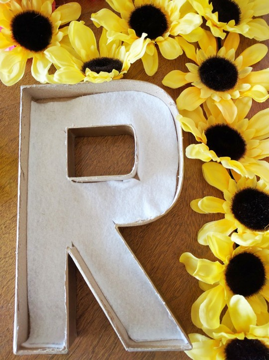 Floral Letter DIY by Mrs Priss Hollow Letter