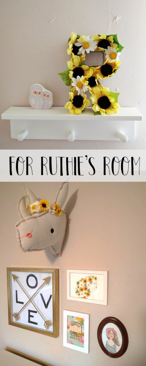 Floral Letter DIY by Mrs Priss Sunflowers Daisies for Nursery