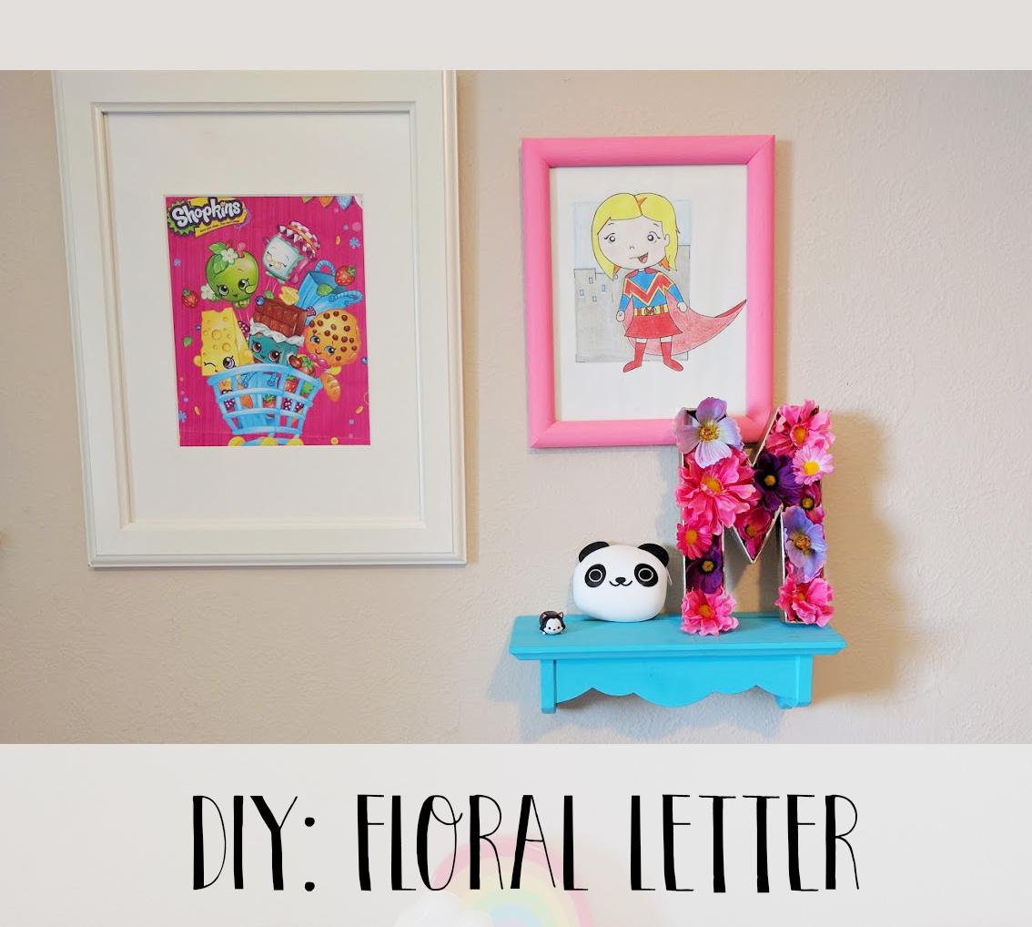 Mrs Priss DIY Floral Letter Header