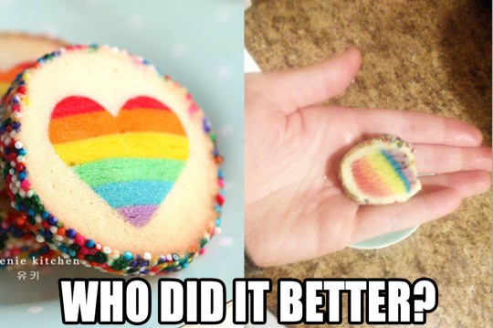 Rainbow cookie who did it better