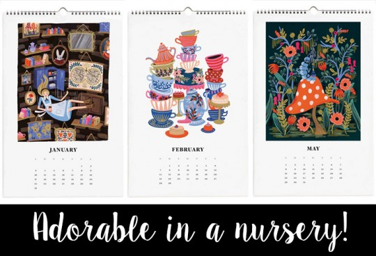 Rifle Paper Alice Wonderland Calendar