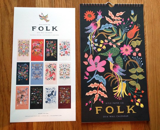 Rifle Paper Folk Calendar