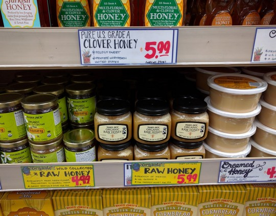 Trader Joes Honey display