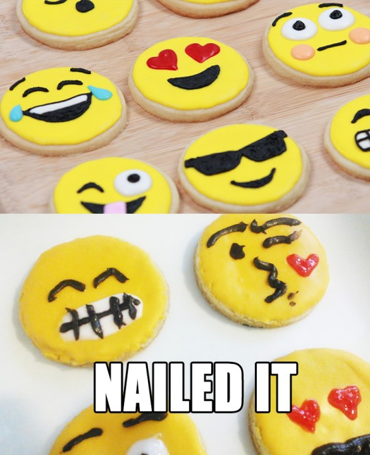 emoji cookies fail nailed it