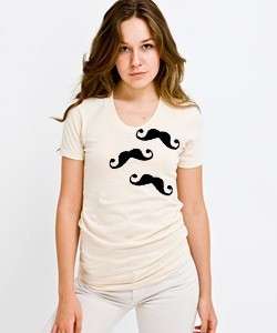 Staches on a shirt! This is too much for me to handle.