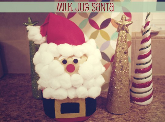 Kid friendly christmas craft projects motherhood for Christmas crafts with milk jugs