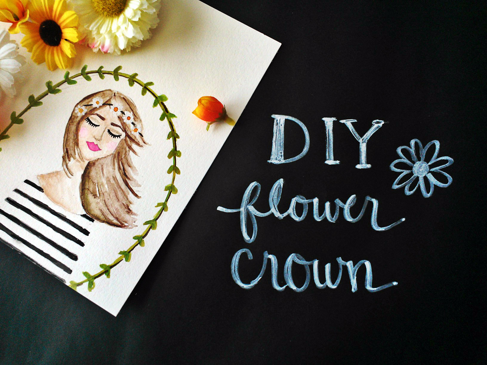Mrs Priss DIY Flower Crown Header Image