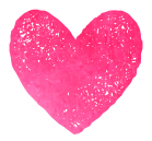 watercolor heart pink